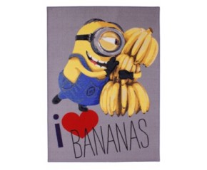 "Tapis Minion ""I love bananas"""