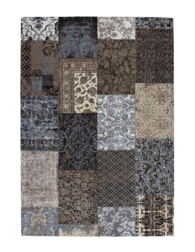 tapis vintage patchwork marron. Black Bedroom Furniture Sets. Home Design Ideas