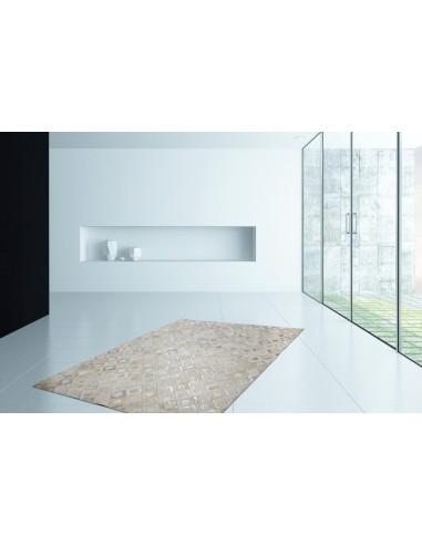 tapis cuir gris argent spark tapishop. Black Bedroom Furniture Sets. Home Design Ideas