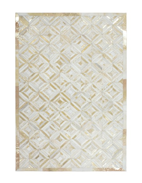Tapis Cuir Ivoire Or Spark