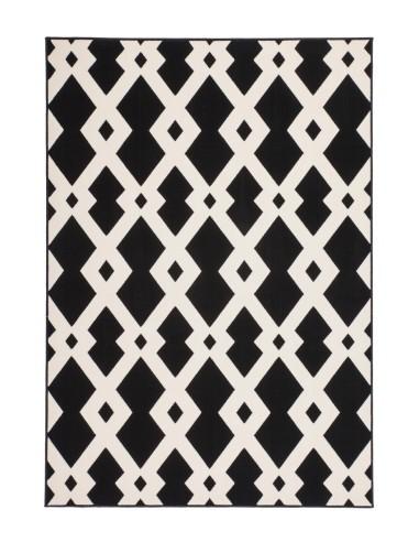tapis lgant de couleur noir et blanc disponible en 4 tailles - Tapis Noir Et Blanc