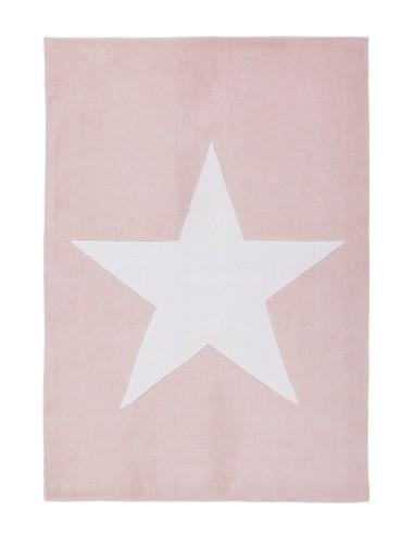 Tapis Etoile de couleur rose, idéal pour les chambre de petite fille