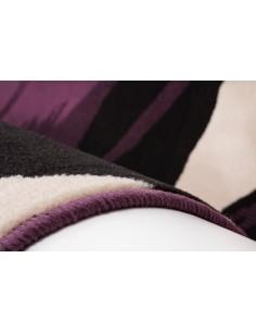 Tapis Design  Violet - Noir - Crème. Taille, 190 x 280 cm
