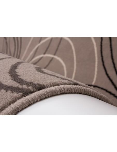 Tapis Design Motif Cercles Argenté - Gris - Blanc. Taille 190 x 280 cm