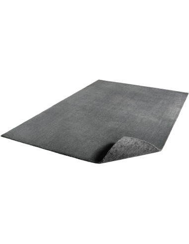 tapis lavable en machine gris anthracite 120 x 230 cm feel - Tapis Gris