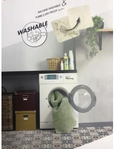 Tapis lavable en machine Gris Anthracite 120 x 230 cm Feel