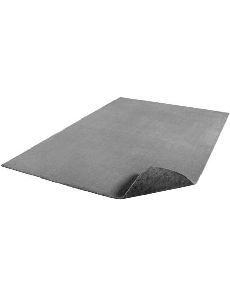 Tapis lavable en machine Gris Argent 120 x 230 cm Feel