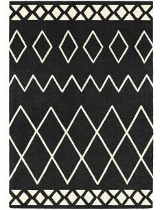Tapis à motif style Berbère Noir