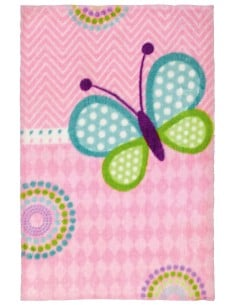 Tapis Papillon Rose