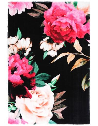 Tapis Flora Noir