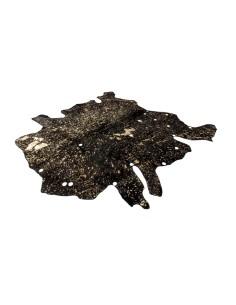 tapis en peau de vache en or et noir. Black Bedroom Furniture Sets. Home Design Ideas