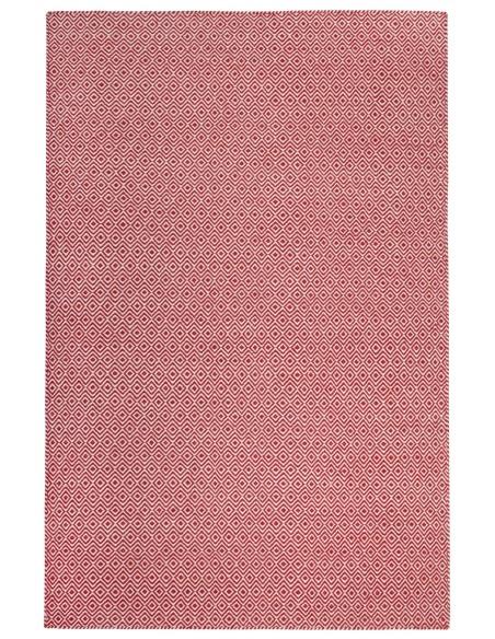 Tapis Rouge en pur Laine - Jaipur