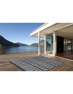 Tapis d'exterieur pour terrasse Noir - Sunny 210